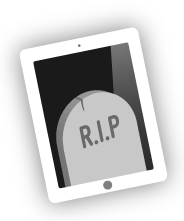 dead-ipad- rotherham south yorkshire uk