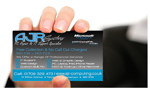 Web Design Rotherham, South Yorkshire_AJR Computing