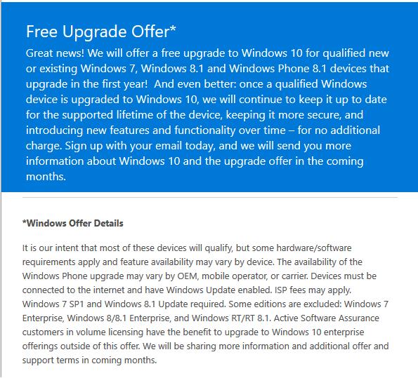free-upgrade-windows 10