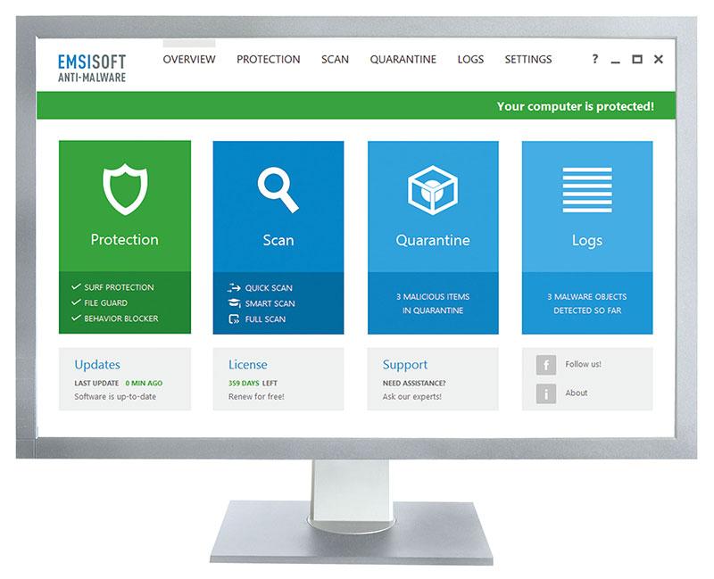 Emsisoft Anti-malware, Anti-Virus Solution